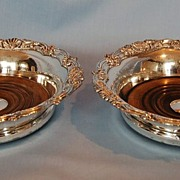 Early 19th Century Pair of English Old Sheffield Plate Decanter Slides
