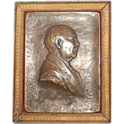Early 20th Century American Bronze Plaque of J.K. Lilly by Julio Kilenyi