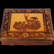 19th Century English Rosewood & Tunbridgeware Lap Desk
