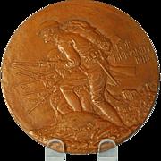 Vintage American Bronze Medal Designed by James Earle Fraser