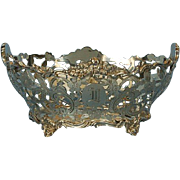 19th Century English Sterling Silver Basket by Daniel & John Wellby