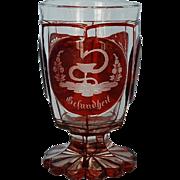 19th Century Bohemian Biedermeier Footed Goblet