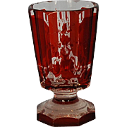 19th Century Bohemian Red Pannelled Goblet
