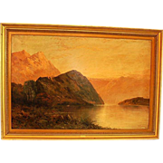 19th Century Signed Scottish Oil-on-Canvas Highland Landscape Scene by F.E. Jamieson