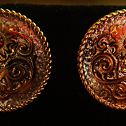 "Earrings Garnet "" Sterling"" Posts Studs Pierced"
