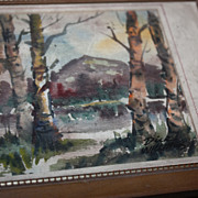 Painting Watercolor Dick Williams Richard F. Williams Framed