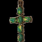 14K Opal Cross Pendant Australian Opals Solid