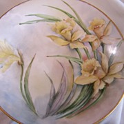 Limoges Scene T & V Plates (5) Set Signed Dated Hand Painted