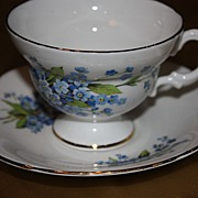 Vintage Royal Imperial English China Demitasse Cup Saucer Set