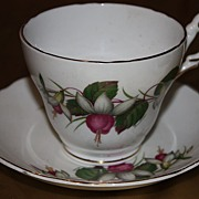 Vintage Regency China Cup Saucer Set Demitasse