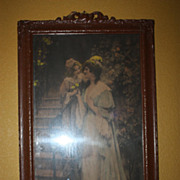 Antique Print 1902 Art George Sheridan Knowles Signed A Love Gift