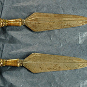 Antique Sword Knife Dagger African Congo Colonial Brass
