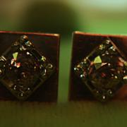 """SALE Rose Gold 14K Stud Earrings Diamond Unisex.50ctw 1/2"""" inch"""