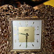 SALE Rare Clock Linden Black Forest Alarm German Romantic Ornate