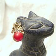 Sweet Moonglow Lucite Berry Earrings by Dafri