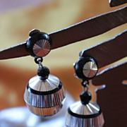 Glitzy Disco Globe 1970's Aluminium Earrings