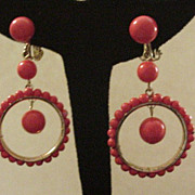 Vintage Dangling  Hoop Earrings