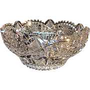 Heavy ABP Cut Glass Bowl circa 1900