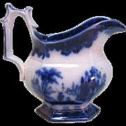 Flow Blue Ironstone Creamer ca. 1855