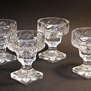 Four Cut Glass Nut or Candy Dishes