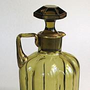 Amber and Gilt Glass Decanter