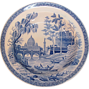 "Spode Blue and White  ""Rome"" or ""Tiber"" Soup Plate ca. 1815"