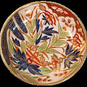 "English Porcelain ""Japan"" Pattern Saucer ca. 1810"