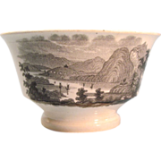 Transfer Ware Cup with Hudson River View ca 1840