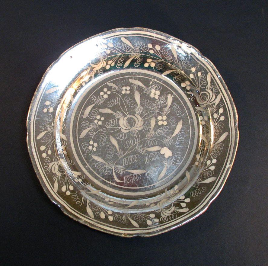 Silver Resist Luster Plate ca. 1830