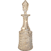 Waffle and Thumbprint Flint Decanter 1850-1870