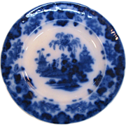 """Scinde Flow Blue 10.5"""" Plate ca. 1845"""