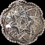 """Cut Glass 7"""" Plate ca. 1900"""