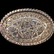 Oval Cut Glass Oval Dish ca. 1900