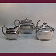 Silver Luster Tea Set ca. 1825