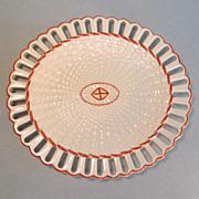 Wedgwood Creamware Basketweave Pattern Oval Tray ca 1810