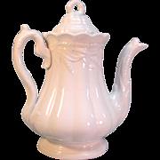 "White Ironstone ""Ceres"" Coffee Pot ca. 1865"