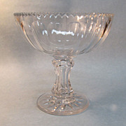 Large Blown Glass Compote ca. 1865