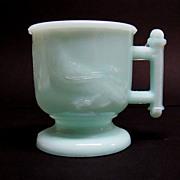Atterbury Pale Blue Milk Glass Mug ca. 1885