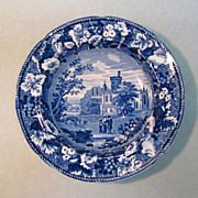 """Staffordshire Soup Plate """"Thrybergh"""" circa 1830"""