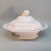 Fig Ironstone Covered Dish ca. 1856