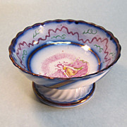 """Luster Compote with """"Faith"""" Transfer ca. 1840"""
