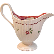 New Hall Helmet Form Creamer ca. 1795