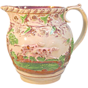 Luster Jug with Dogs ca. 1825-35