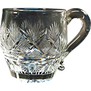 Pittsburgh Type Cut Glass Punch Cup ca. 1830