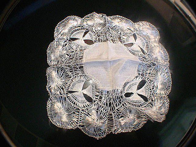 3 Victorian Silk Floss Trimmed Doilies