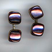 Vintage Lavender Glass Cufflinks