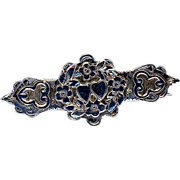 Sterling Hallmarked Double Heart Pin