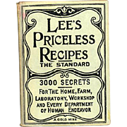 Rare Lee's Priceless Recipes American Edition With Some Marked Illegal To Make