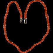 "Vintage Natural Coral 17"" Childs Necklace"