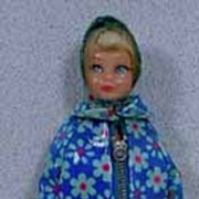 Mattel 1968 TNT Skipper in Original Flower Showers Outfit!